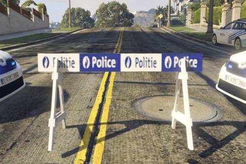 Belgian Police barrier
