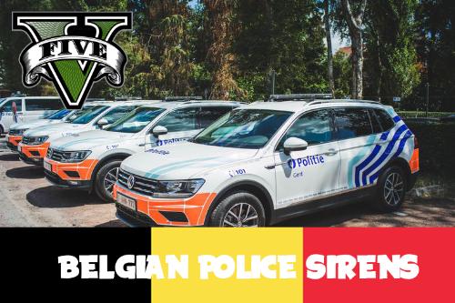 Belgian police sirens (airhorn) REAL ONES