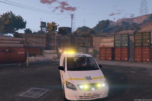 Belgische VAB Wegenwacht busje