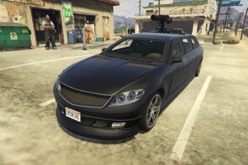 Benefactor Turreted Limo Custom [Replace]