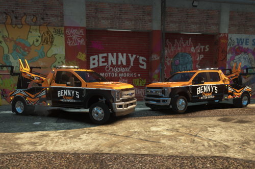 Benny's tow trucks and SAST tow truck