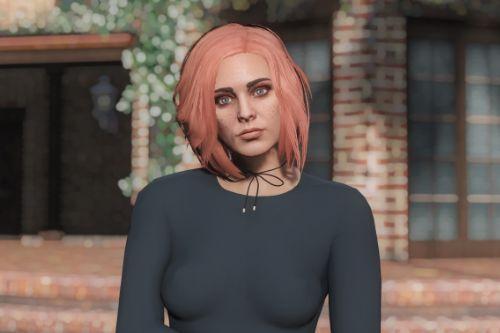 Better Pink Hair for MP Female