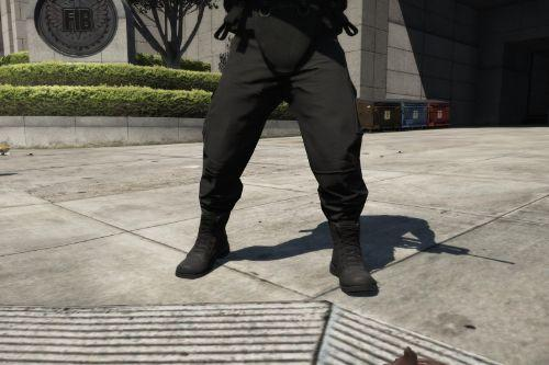 black combat pants and boots to franklin