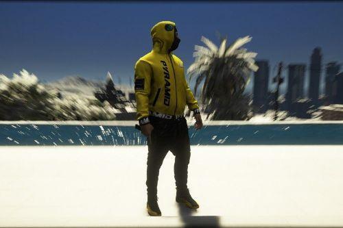Black Pyramid Goggle Hoodie Texture for Mp Techfleece Jacket