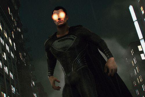 Superman Justice League Black Suit [Add-On Ped]
