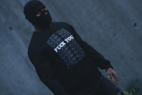 Black Supreme Fuck you x sweater