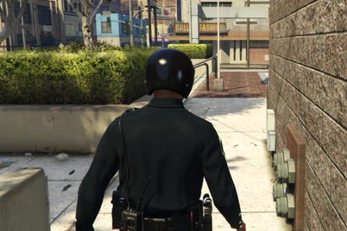 Black Vanilla Police Helmet