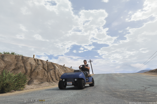 Blaine County Golf Cart with License Plate