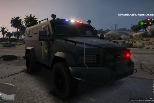 Blindado Cuerpo especial de la Guardia civil UEI