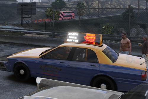 BLM Taxi advertisement (vanilla)