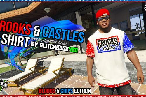 Bloods And Crips Crooks & Castles T-Shirt for Franklin #1