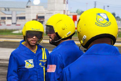 Blue Angels Pilot Helmet (No breather / Microphone)