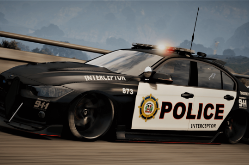 BMW 3 F30 Police Crazy exterior [Add-On] [ELS] [Template]