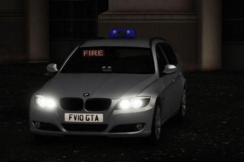BMW 330D Fire Officer Car