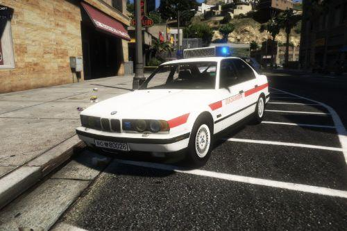 BMW 535i 1989 Bundesgendarmerie Paintjob