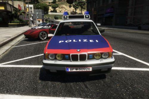 BMW 535i 1989  Skin For Police Austria [Polizei Österreich]
