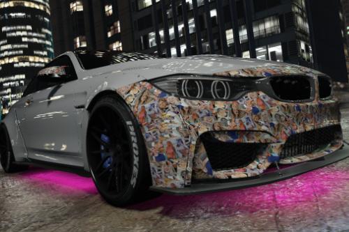 2015 BMW F82 M4 Addison Rae Retexture