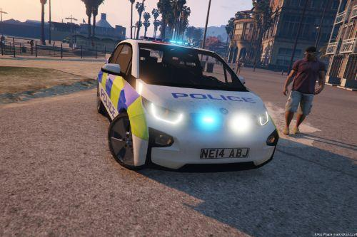 BMW I3 POLICE CAR WITH BEACON
