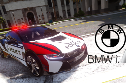 BMW i8 USA police Paintjob [ADD-ON | Replace | ELS/Non-ELS]