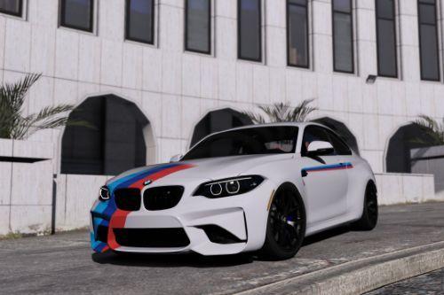 BMW M2 M-Stripe Livery (4k) (2 Skins)