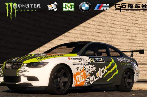 BMW M3 E92 GTS Monster Energy Fictional Art Car