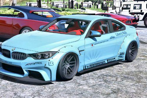 BMW M4 F82 [LibertyWalk | Animated Engine | Template]