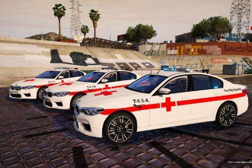 BMW M5 Cruz Roja Española of Spain/España[FiveM-Replace-ELS]