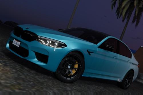 BMW M5 (F90) '2019 Fading Blue Livery [4K]