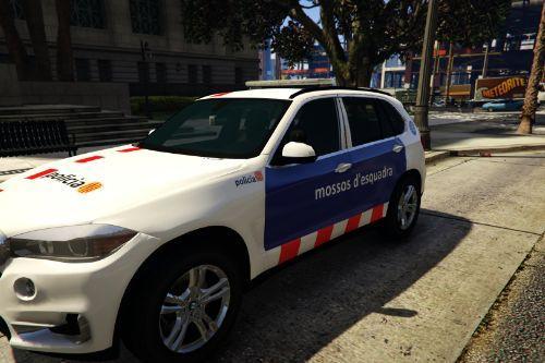 BMW X5 2016 Mossos d'Esquadra (Catalonia police, Spain)
