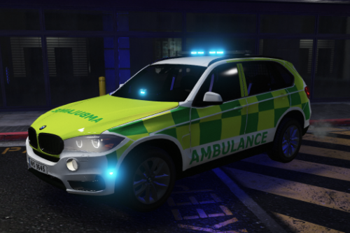 BMW X5 Ambulance Rapid Response Vehicle Skin