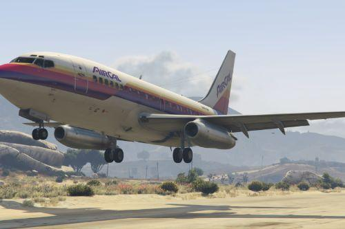 Bfcca9 gta v   aircal 737 200 landing at sandy shores