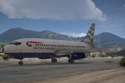 Boeing 737-200 British Airways Utopia Pack