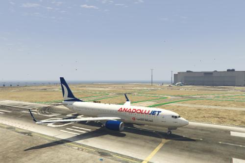 Boeing 737-800 Anadolujet Livery
