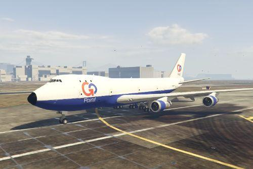 Boeing 747-200F GoPostal and PostOP Livery