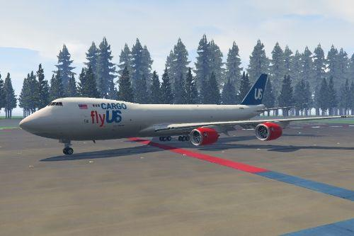Boeing 747-8F flyUS Cargo livery