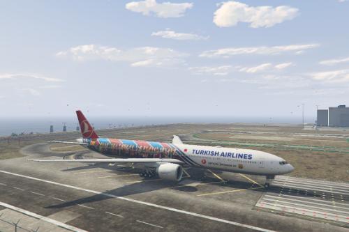 "Boeing 777-300ER Turkish Airlines ""FC Barcelona"" Livery"