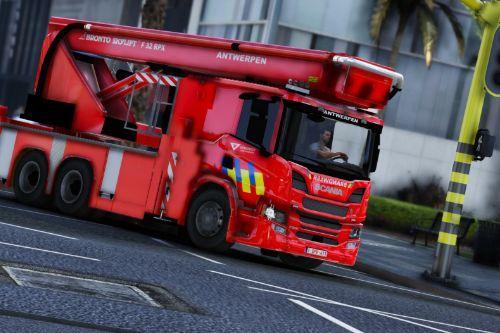 Brandweer Antwerpen Elevator Scania P360