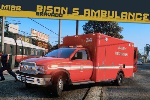 Bravado Bison S Ambulance [Add-On | Replace | Liveries | Template]