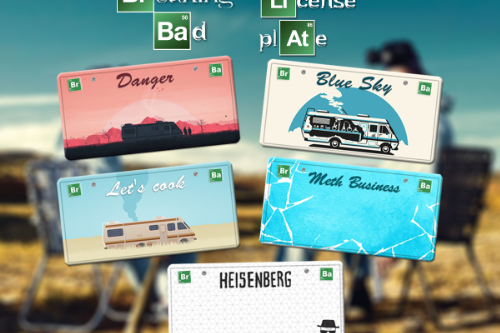 Breaking Bad License Plates
