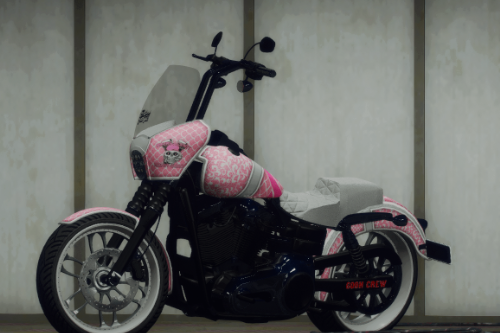 """Breast cancer awareness metal flake paint for Acknod's Dyna """"Born"""""""