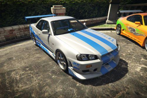 Brian's NISSAN SKYLINE GT-R R34 1999 (FAST&FURIOUS) [Add-On]