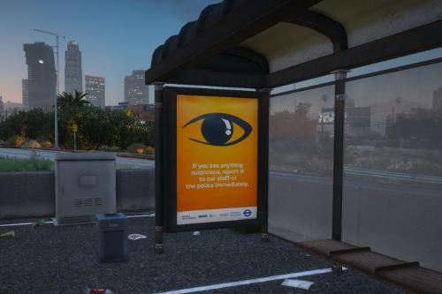 British Bus Stop Posters