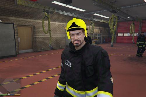 British firefighter uniform + Real Helmet
