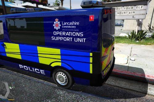 British Lancashire police operations support unit