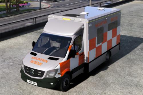 British Mountain Rescue Ambulance - Mercedes Sprinter