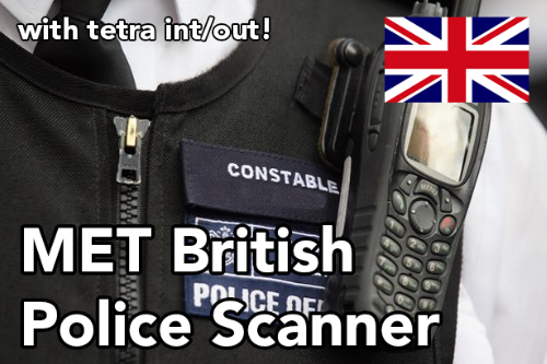 TETRA MET British Radio Walkie Talkie Police Scanner