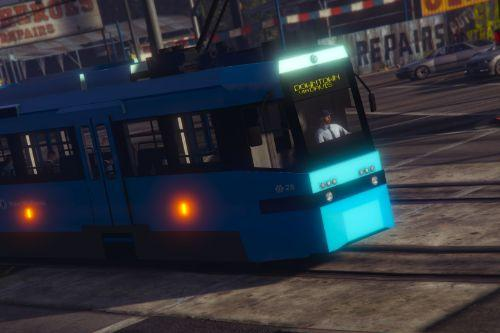 British AnsaldoBreda T-68 Tram - West Midlands Metro