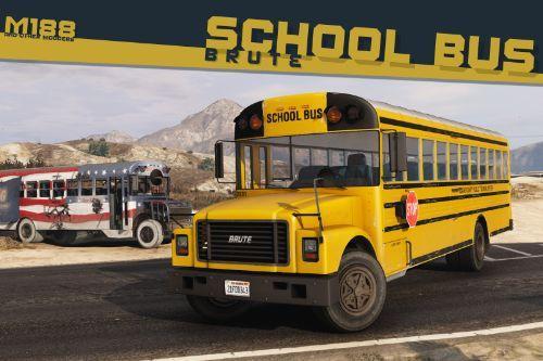 Brute School Bus & Derby Bus [Add-On | Liveries | Template | Sound | Custom Shards]