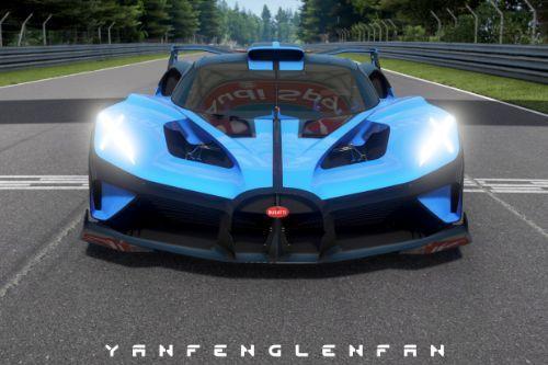 Bugatti Bolide Concept Car [Add-On l Template]