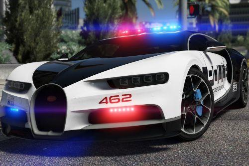 Bugatti Chiron | Hot Pursuit Police [Add-On / Replace | Template]